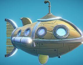 Steampunk Fish Submarine 3D asset
