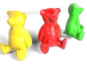 Teddy Bear Mold Cast 3D print model