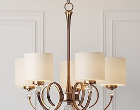 3D model Ovanda 26 inch Wide Antique Brass Chandelier