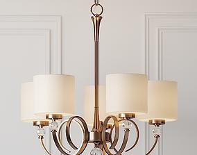 3D model Ovanda 26 inch Wide Antique Brass Chandelier