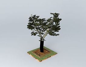 3D earth with fig fruit Fig Tree 3D