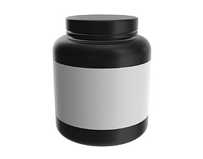Sport Nutrition Container 05 mockup 3D