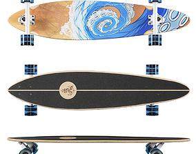 Longboard Termit Pin Tail 2 3D model