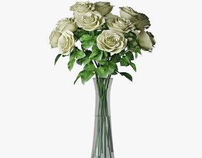 roses 04 3D model vase