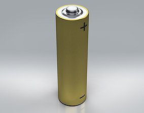 3D model batteries AA Battery