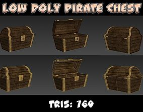Low Poly Pirate Chest 3D asset