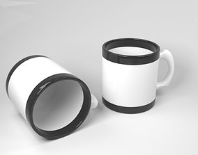 Black and white cup 3D model