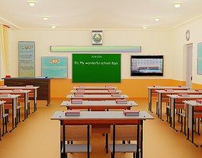 3D model A1010Designer - School Table Chair