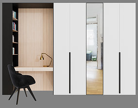 set Wardrobe with Scoop chair by Tom Dixon 3D