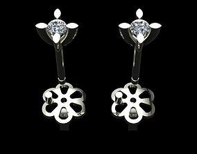luxury 3D printable model Diamond Earrings