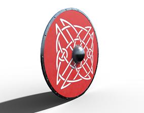 Slavic ring shield 3D model low-poly