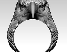 Realistic Eagle Hawk Flacon ring 3D printable model