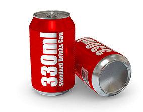 3D asset Drinks Can - 330ml Standard