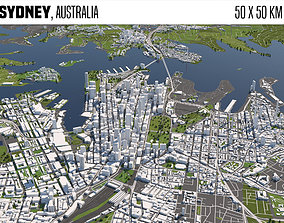 3D model Sydney Australia 50x50km