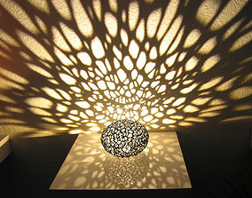Voronoi Pearl Light Lamp No 1 3D printable model