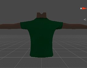 Tshirt and arms 3D asset