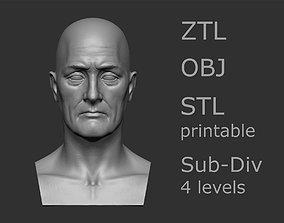 Elderly male head 2 3D