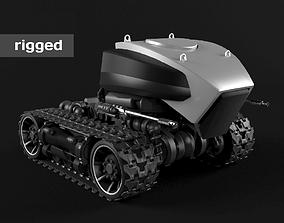 Robot on caterpillars 3D model