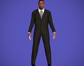 Businessman character 3D model rigged