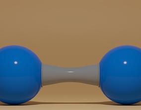 3D asset realtime N2 Nitrogen Molecule