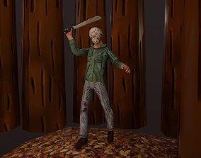Stylized Jason Voorhees 3D asset