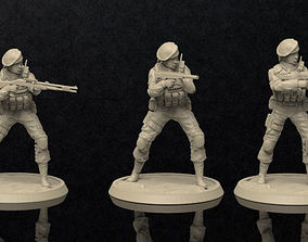 3D print model Soldiers Female Figure Set 2