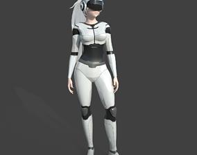 Girl Model - Sci-fi Girl 3D asset low-poly