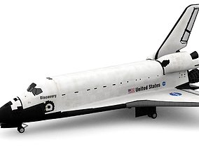 Space Shuttle Discovery 3D model rigged nasa