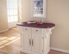 Traditions Kitchen Island 3D asset