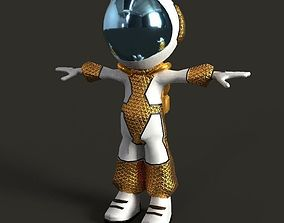 Astronaut Low Poly game Character mode 3D model