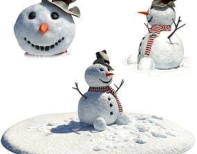 bowler 3D model Snowman