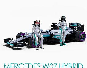 3D asset Mercedes W07 Hybrid