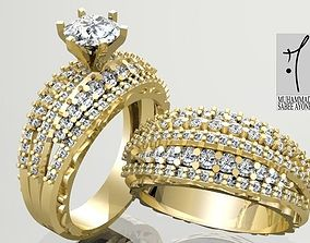printable diamond-ring Gold Ring 3D print model
