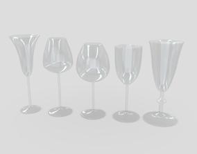 Cocktail Glass Set 3D model