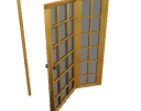 3D model Opened patio door