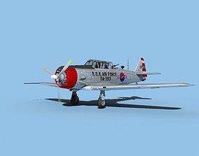 North American AT-6 Texan V11 ROKAF 3D model