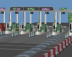 3D model Highway Toll-Gate