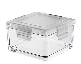 Clear Kitchen Plastic Container 3D model
