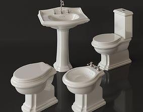 3D model Nero Ceramica Revo toilet bidet washbasin