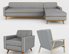 3D Modern sofa collection