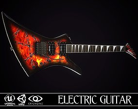 Electric guitar Jackson Kelly skin2 3D asset