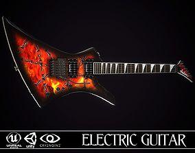 Electric guitar Jackson Kelly skin2 3D asset