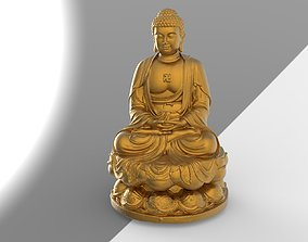 thailand buddha head 01 3D model