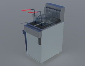 3D model fried Commercial Gas Deep Fryer