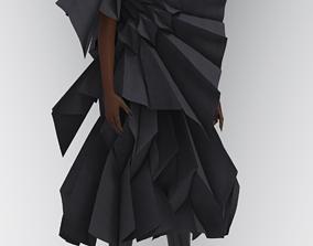 Origami Technique Design 3D asset rigged