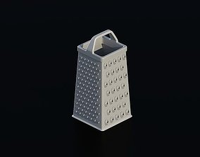 grater 3D model game-ready