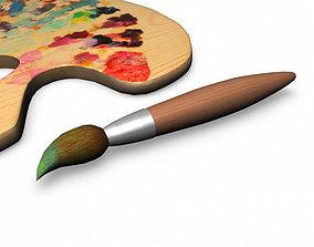 3D model painting brush