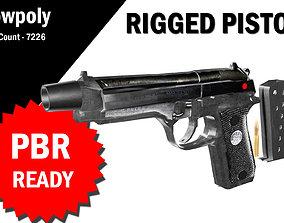 rigged 3D Rigged Pistol