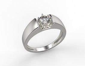 Women ring with gem 3dm stl CAD