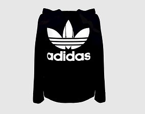 3D model realistic Adidas sweet hoodie in six different